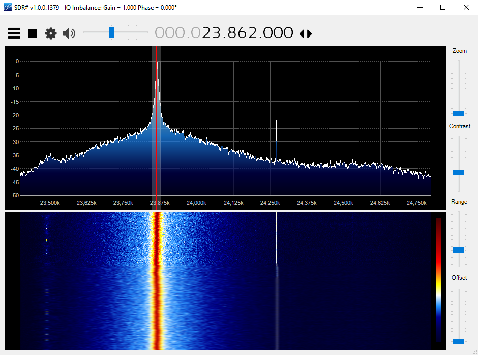 100% AM modulated wave in SDR#